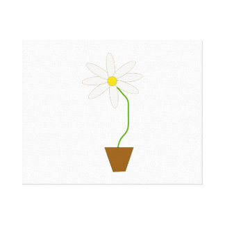 Potted Plant Stretched Canvas Print
