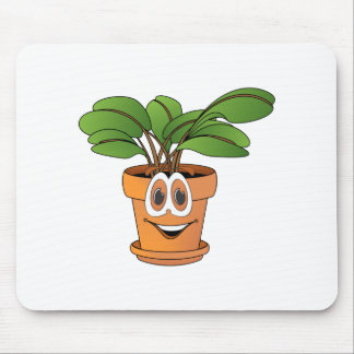 Potted Plant Cartoon Mouse Pad