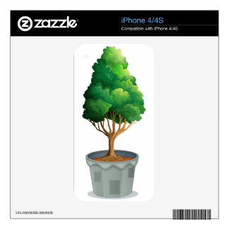 Potted plant decals for iPhone 4
