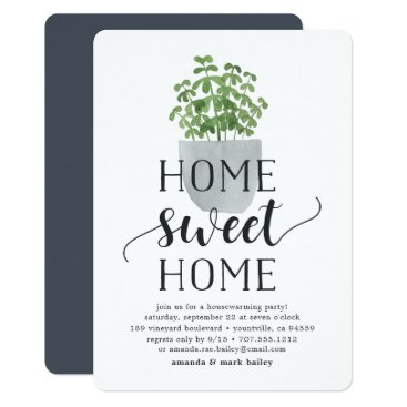 RedwoodAndVine Potted Plant | Housewarming Party Invitation