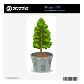 Potted  plant iPhone 4 decals