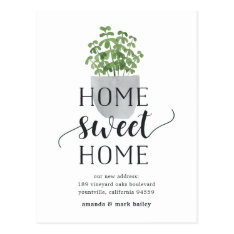 Potted Plant | Moving Announcement Postcard at Zazzle