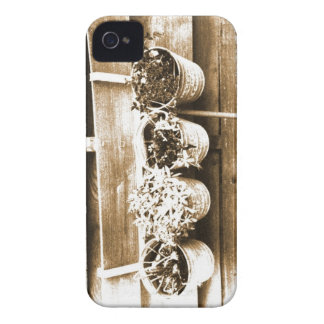 Potted plant_Sepia Case-Mate iPhone 4 Case