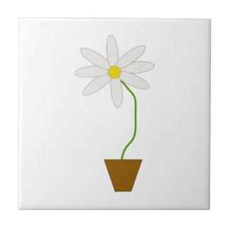 Potted Plant Ceramic Tile