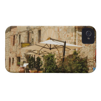 Potted plants and patio umbrellas in front of a Case-Mate iPhone 4 case