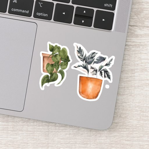 Potted Plants - Green Home Sticker