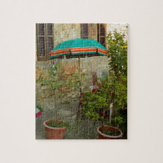 Potted plants in lawn, San Gimignano, Siena Jigsaw Puzzle