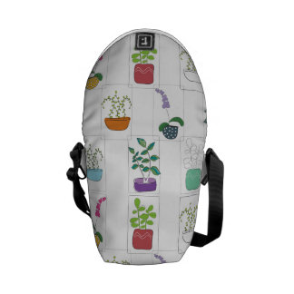 Potted Plants Messenger Bags