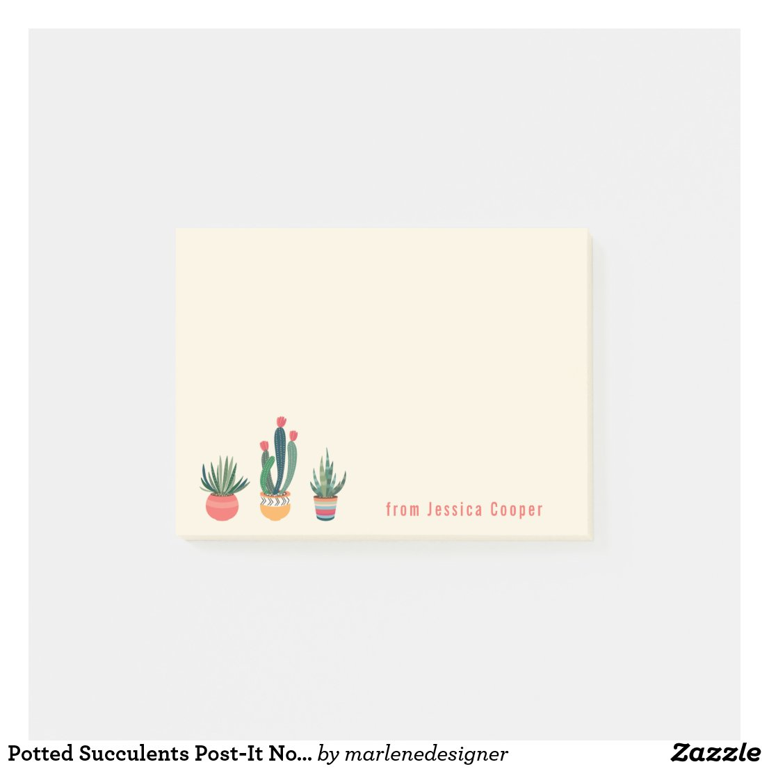 Potted Succulents Post-It Notes