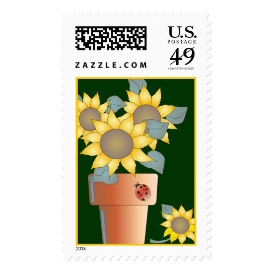 POTTED SUN by SHARON SHARPE Postage