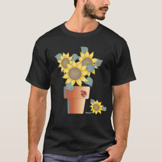 POTTED SUN by SHARON SHARPE T-Shirt