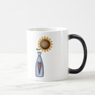 Potted Sunflower Magic Mug