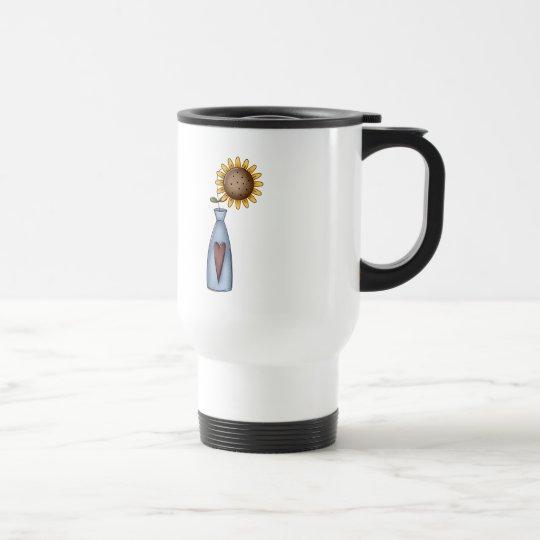 Potted Sunflower Travel Mug