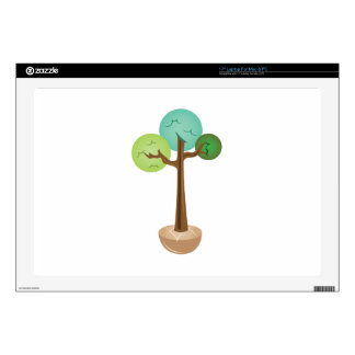 """Potted Tree Skin For 17"""" Laptop"""