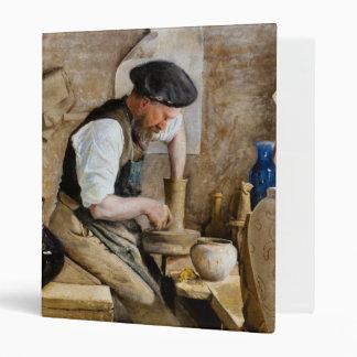 Potter Herman Kähler in his Workshop by L. A. Ring 3 Ring Binder