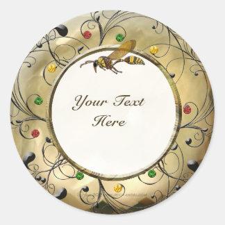 Potter Wasp Classic Round Sticker