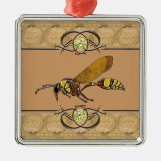Potter Wasp Metal Ornament
