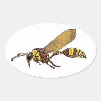 Potter Wasp Oval Sticker
