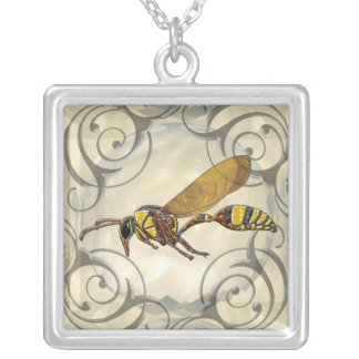 Potter Wasp Silver Plated Necklace