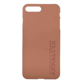 Potters Clay Russet Orange Solid Color Custom iPhone 7 Plus Case