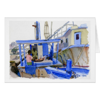 Potters Fish Boat note card
