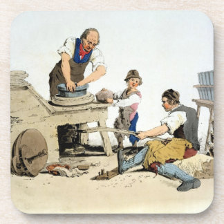 Potters, from 'Costume of Great Britain', publishe Drink Coaster