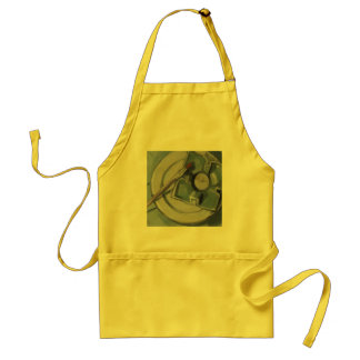 Pottery and paintbrush Still Life Painting Adult Apron