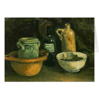 Pottery and Two Bottles (F57)Van Gogh Fine Art Card