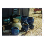 Pottery and wagon greeting card