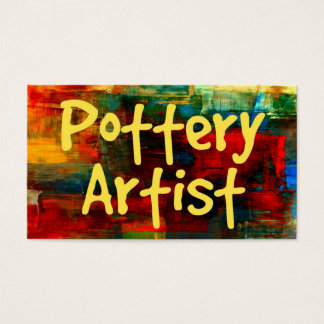 Pottery Artist in Paint Business Card