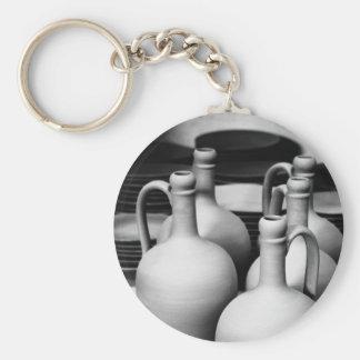 Pottery Basic Round Button Keychain