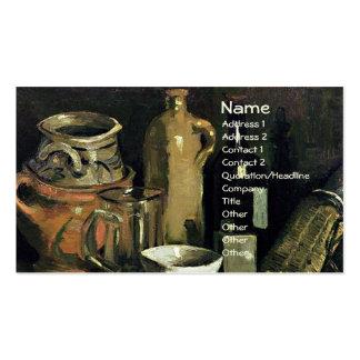 Pottery, Beer Glass & Bottle Van Gogh Fine Art Business Card