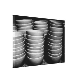 Pottery bowls canvas print