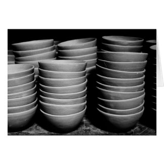 Pottery bowls card