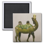 Pottery Chinese wailing camel 2 Inch Square Magnet