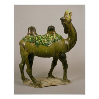 Pottery Chinese wailing camel Poster
