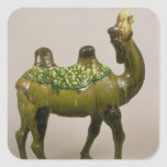 Pottery Chinese wailing camel Square Sticker