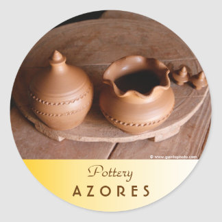 Pottery Classic Round Sticker