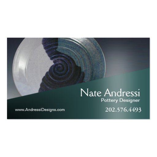 Quotpottery designer iquot ceramics business cards zazzle for Pottery business cards