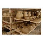 Pottery drying poster