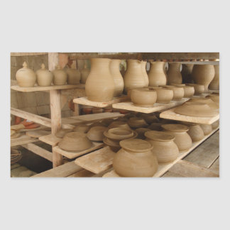 Pottery drying rectangular sticker