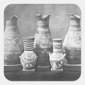 Pottery  - Egyptian artifact Square Sticker