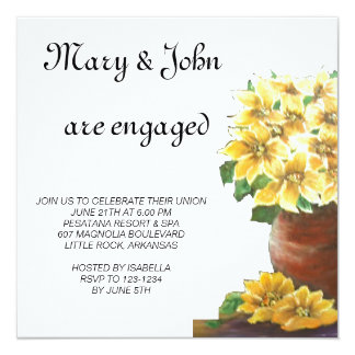 Pottery  engagement card
