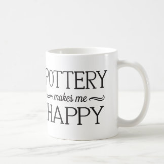 Pottery Happy Mug - Assorted Styles