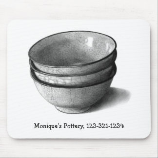 POTTERY: HYPER REALISM DRAWING: BOWLS MOUSE PAD