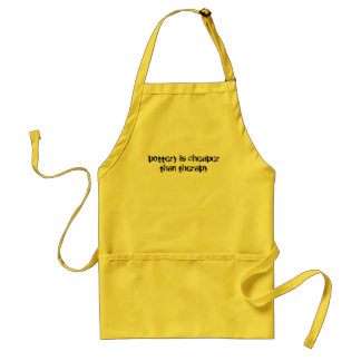 pottery is cheaper than therapy apron