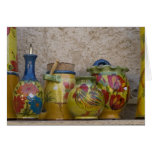 Pottery, Moustiers-Sainte-Marie, Provence, Greeting Card