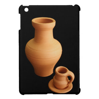 Pottery on black background iPad mini cases
