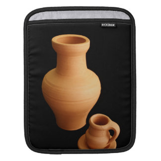 Pottery on black background sleeves for iPads