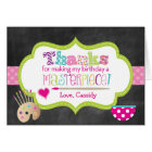 Pottery Painting Birthday Thank You Note Card